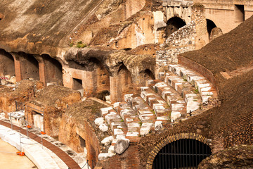 Colloseum old stairs details