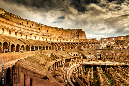 Foto op Canvas Rome Inside of Colosseum in Rome, Italy
