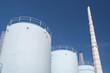 Petrochemical plant under blue sky
