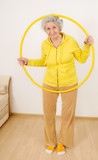 grandmother gymnastic exercises