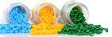 Reagenzglas mit farbigen Masterbatch Kunststoffgranulat