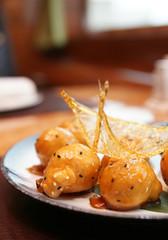 Caramelized fruits, chinese dessert