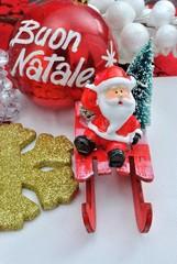 Babbo Natale sulla slitta