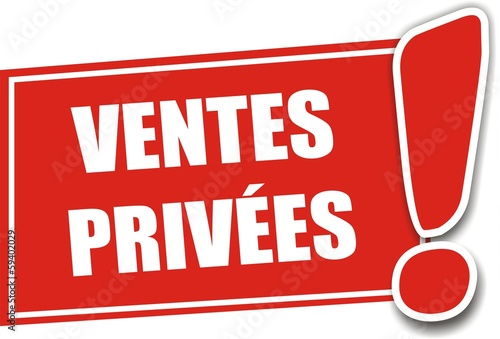 étiquette ventes privées