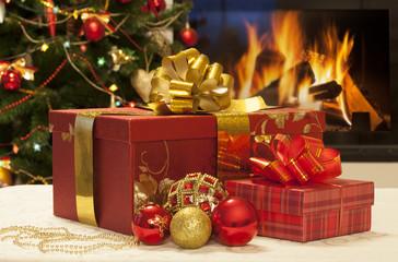 Christmas gifts closeup