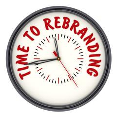 Time to rebranding (Время ребрендинга). Часы с надписью
