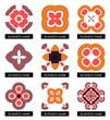 Flat geometric business symbols. Icon set