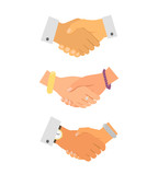 Business handshake iconset