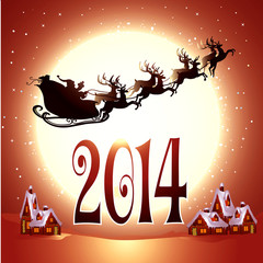 Illustration of New Year background