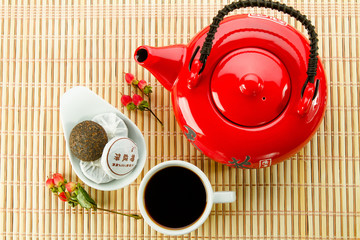 Tea ceremony with puer tea