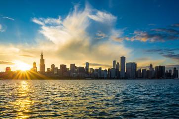 Chicago city downtown urban skyline