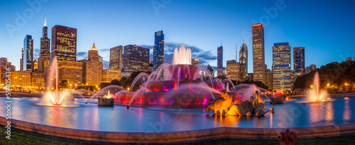 Fotobehang Historisch mon. Buckingham fountain