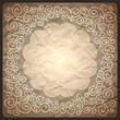 Vintage retro background with ornamental frame