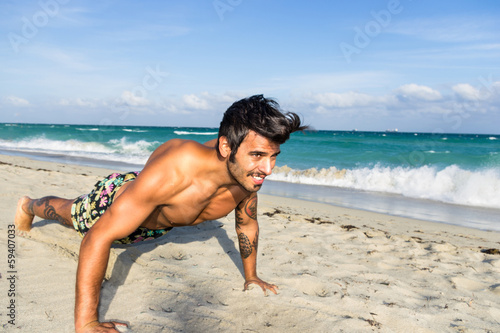 push up training in miami beach