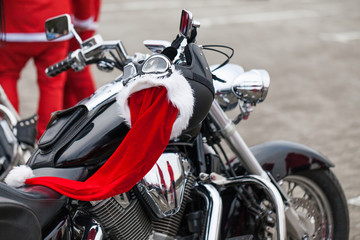 Motorcycle of Santa Claus