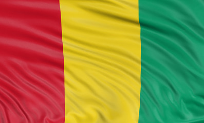 3D Guinea flag