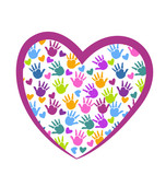 Hands of love logo vector