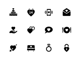 Love icons on white background.