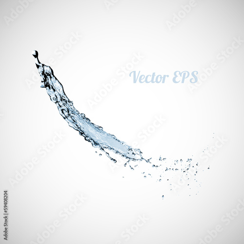 Blue water splash isolated on white background © sidmay