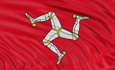 3D Isle of Man Flag