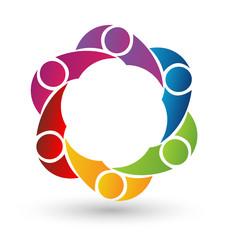 Vector of Teamwork logo design