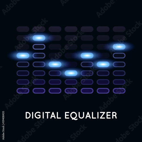 Digital dark equalizer with blue light