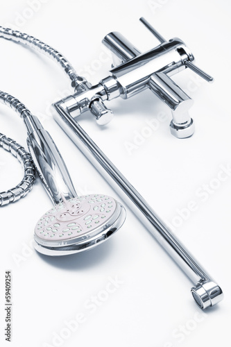 faucet and shower close up