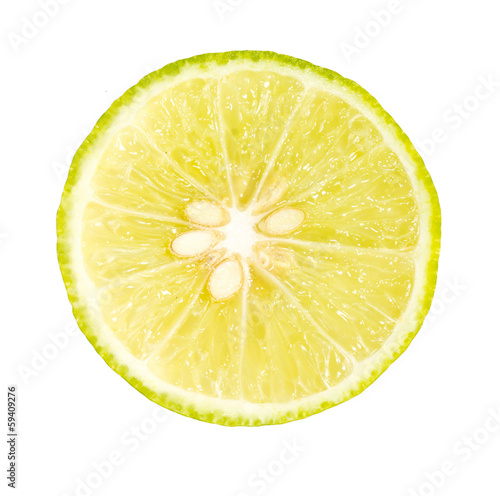 lime is isolated on a white background.