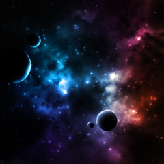 Galaxy background © Lonely
