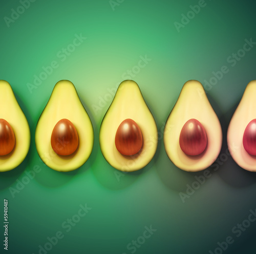 Background with avocado