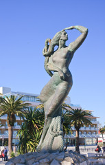 Mermaid statue. City of Cascais. Portugal