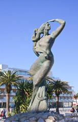 Mermaid statue. City of Cascais. Portugal
