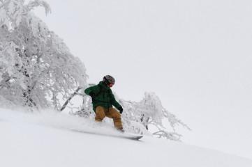 Skier in freeride
