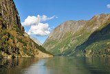 Scenic view of Fjord in Flam, Norway
