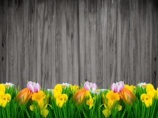 spring background antik flowers