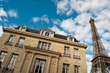 immeuble parisien tour Eiffel