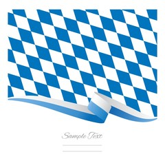 Bavarian flag background vector