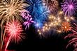 canvas print picture - Stimmungsvolles Feuerwerk