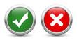 Kreuz Haken Buttons