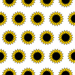 Sunflower. Pattern