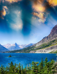 Lake of Glacier National Park, Montana