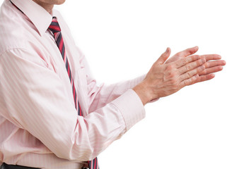 Businessman clapping