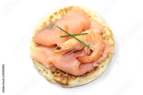 saumon et blinis