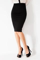 legs skirt shoes