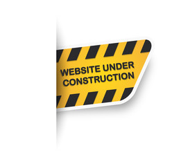 Website under construction Label