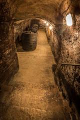 Abgang in alten Weinkeller