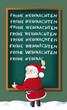 Santa schreibt Frohe Weihnachten an Tafel