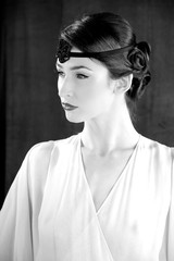 Fashion model gatsby style 20s