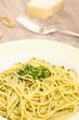 Spaghetti mit Ruccola Pesto