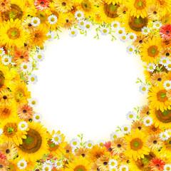 花のコラージュ